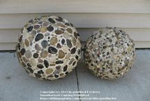 Garden balls using QUICK WALL CEMENT