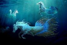 Underwater fantasy creatures