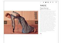 Pubblicazioni su Vogue Italia / moda e accessori vintage