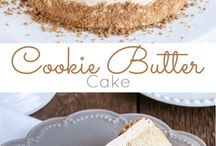 Vanilla cookie butter cake