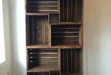 Boekenkast en meubelen