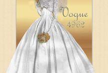 vestidos de noiva retro.