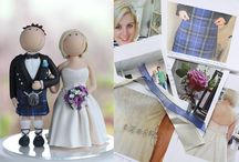 Bride & Groom Cake Toppers / by Lindy Smith