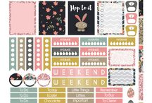 Stickers daily planner