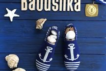 Sea collection / Sea collection is dedicated to people who are in love with sea and yachting. Hand made knitted slippers.