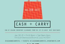 Cash + Carry STL / On July 22 + 23, Cash + Carry is back at Majorette! Cash + Carry is a must-attend event for any savvy St. Louis shopper who appreciates great style and top brands as much as exclusive deals and insider access. Purchase tickets for $10 to receive discounts up to 75 percent. Proceeds benefit Celebrate Style.   Purchase tickets: http://bit.ly/1U4Bc3t