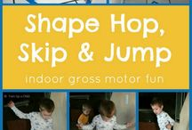 Lively Inside Play / Ideas for musical movement, gross motor movement activities and lively inside play for kids - perfect for a rainy day!