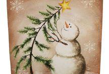 christmas paintigs