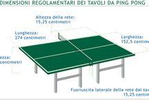 tavolo da ping pong misure