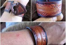 Hand Carved Leather Bracelets