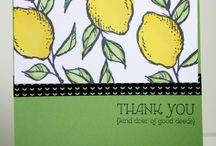 Cards - happy thing; lemons