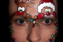 face painting kerst