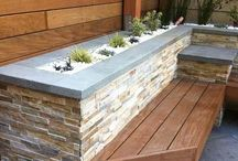 Natural Stone Planter Boxes