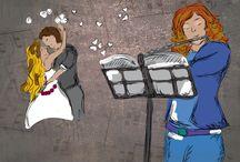 """Bodas de cuento / Si quieres hacer algo diferente el día de tu boda y contar tu historia de amor de una manera original e inolvidable, somos lo que necesitas.  Nosotros nos encargamos de contar vuestra historia de una forma muy especial escribiendo un relato que se acompaña de arte en directo el día de la boda (música, pintura, danza, etc.)  Nuestros relatos con representación son la forma perfecta de crear un recuerdo que jamás se borrará. No lo olvides, con """"Un relato para cada rato"""", tu boda será de cuento."""