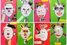 kroppen, ansigter, masker / billedkunst emne