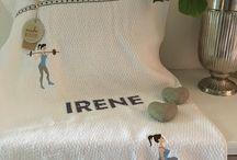 Handtücher mit stickerei