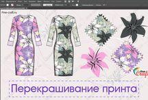 """Принты в Adobe Illustrator / Работы участников курса """"Adobe Illustrator в дизайне одежды"""""""