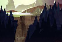 Landscape Illustration / by Ian Sorensen