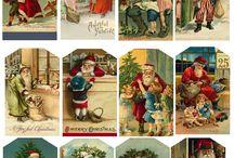 etichette di Natale