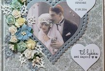 My own handmade Wedding cards
