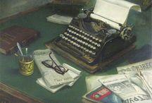 Печатная машинка в живописи