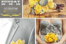grey-yellow wedding
