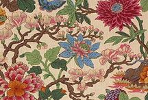 Floral fabrics and wallpapers / Flowers and plants have long been a source of inspiration for interior decoration, from ditsy prints to damasks, there are floral motifs across our collections, this board celebrates our floral fabric and wallpaper designs in all their glory.