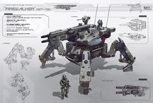 Bots, Mechs / Concepts and inspirations - found around Pinterest.