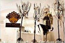 Melis by Laskos Xmas decoration '11 by Elite Events Athens / Following the HERESIS concept of Konstantinos Melis & Yiannis Laskos fashion show 2011, Elite Events Athens team decorated the window display of their marvelous atelier in Athens for Christmas of 2011.