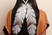 Hair stencilling