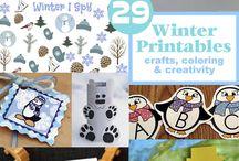 Winter printables