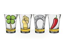 copos de shot. coleção