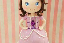princesa Sofia / peça medindo 30 cm para enfeite da mesa