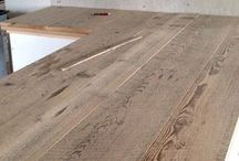 Recycled timber tops