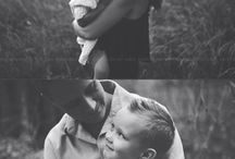 Blk & white family pictures