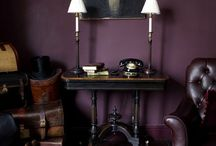 Shadow / Also seen as plum. Fancy with gold, fun and bright with orange and creams. Benjamin Moore's color of the Year.