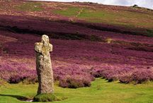 Stone Crosses of Dartmoor / The Stone Crosses of Dartmoor are a new obsession of mine. I didn't even know about them until I wrote a book in which I needed to name a sprawling mansion clinging to the Devon coastline. For some reason, I called it Stonecross Hall, and lingered over a description of an ancient stone cross on the grounds from which the house took its name. I had no idea at the time that Dartmoor, where the story is set, is famous for its stone crosses. I guess it was a little shiver of psychic cognition!