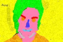 Reception does Warhol / Self portraits inspired by Andy Warhol