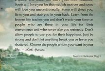 Quotes / My inspiration