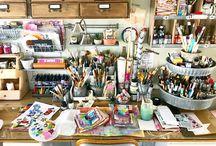artists space, workspace, workshop, etc.