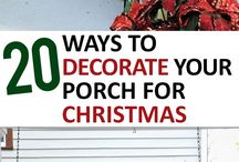 Christmas and Winter Porch Decorations / Different ways to decorate your porch for Christmas and winter,