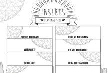 my planner inserts!