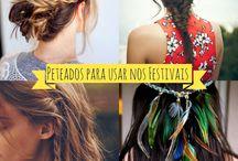 Cabelos decorados com flores / Tendências, cor, tamanho dos cabelos pelo mundo.