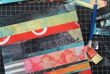 Collaging Monoprints