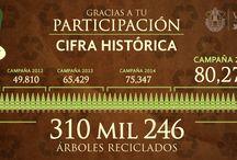 Infografías- Febrero 2015 /  Infografía publicada por el Gobierno del Estado de Veracruz en la cual se plantean los resultados de la campaña Recicla tu Navidad 2015, evento que se ha desarrollado por 5 años consecutivos, en el cual se ve el desempeño y el interés de los veracruzanos de formar parte de una comunidad que se interesa por el medio ambiente y el reciclado.  En dicho documento se presenta el resultado anual y el crecimiento que se ha obtenido a lo largo de los años gracias a este programa de reciclaje.