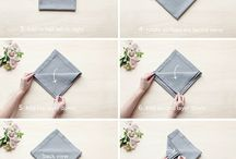 Napkin Folds / by LinenTablecloth.com