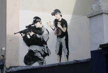 Banksy n others / Graffitti