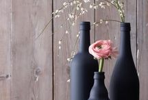 Flaschen zur Deko / Selber bemalen