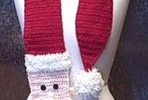 Crocheted Santa scarf