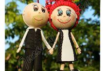 Dekorgumi babáim / Dekorgumiból készült babák.